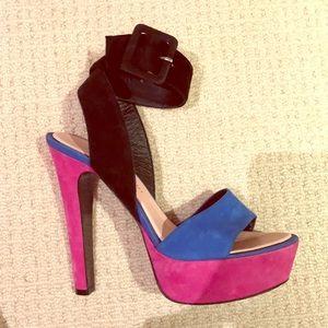 Barbara Bui Colorblock platform sandals